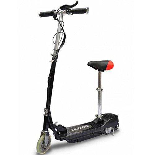 vidaXL Elektroroller Sitz klappbar Schwarz Elektro Scooter E-Roller Cityroller