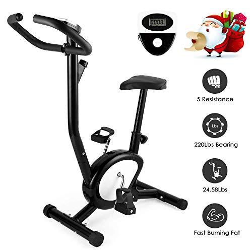 AGM Vélo d'Appartement, Vélo d'Intérieur Cardio Fitness Musculation Silencieux Facile Ecrans...