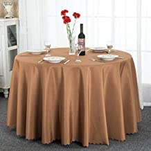 HEIFEN Color Sólido Grueso para La Boda/Banquete/Restaurante Mantel Redondo Liso Mesa De