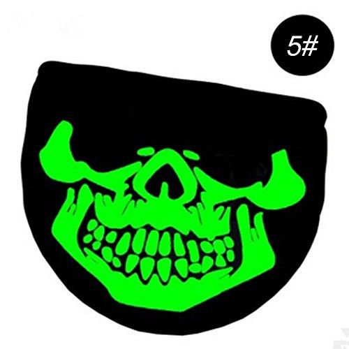 Schädel Muster Halloween Maske Gesichtsmaske für Radfahren, Festivals und Alltag (# 5) ()