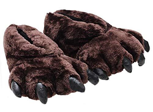 Unisex Leopard Paw Slippers Bear Paw Slippers Cómodo
