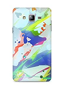 Amez designer printed 3d premium high quality back case cover for Samsung Galaxy ON5 (Spots lines colorful bright)