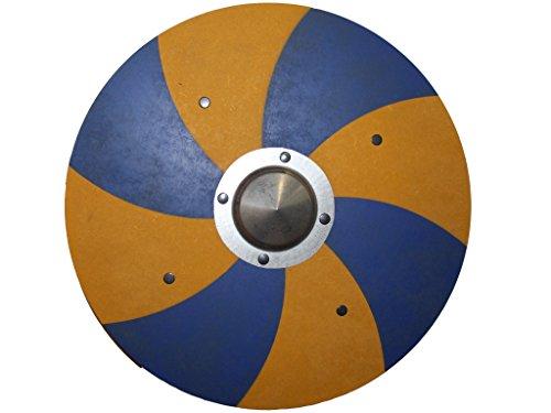 Vikingo Cartel Grim Bosque azul/amarillo con metal Buckel