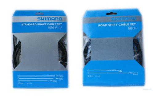 Shimano Bremszüge + Schaltzüge + Außenhüllen Zug.-Kpl.-SET für 1 Fahrrad