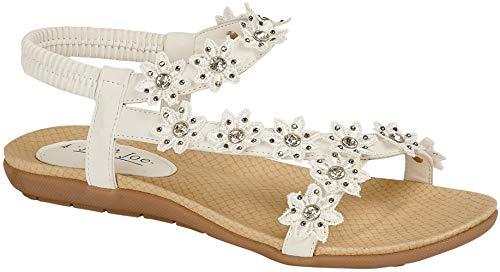 Jo & Joe , Damen Sandalen, Weiß - weiß - Größe: 40 EU