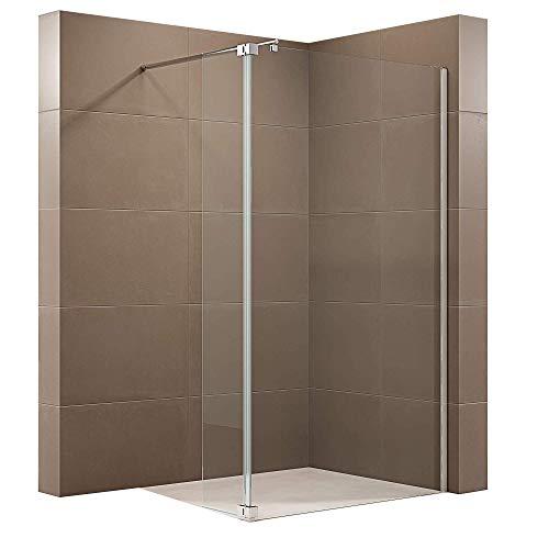 Duschabtrennung Walk-In-Dusche mit Spritzschutz NT109 8mm ESG-Glas, Breite Walk-In:800mm