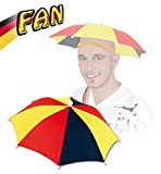 Kopfschirm FAN mit Gummizug, Deutschland, Fußball, WM, EM