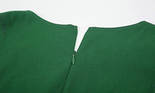 Belle Poque 50s Rockabilly Retro Vintage Kleid Ärmellos Knielang Swing Kleider BP436 BP436-3