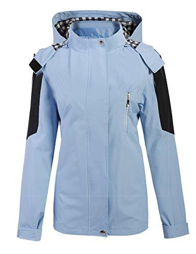 ZEARO Mantel Jacke Damen Sportanzug mit Kapuze ZIP-Up Outdoor Softshell Laufen Sport leichte Kapuzenjacke