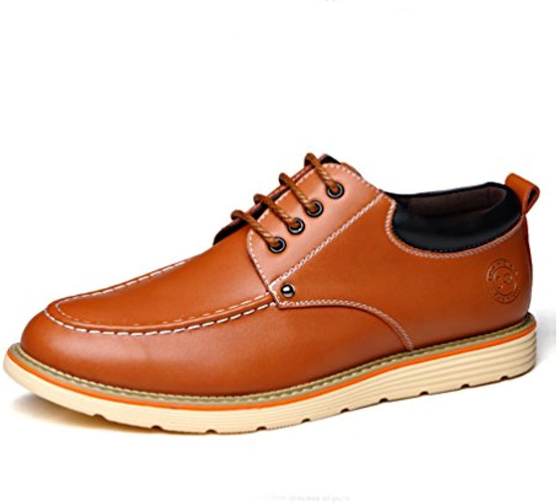 Herren Chelsea Schuhe Britisch Stil Rutschfest Gummi Sohle Elegant Derby Leichte Schnürhalbschuhe