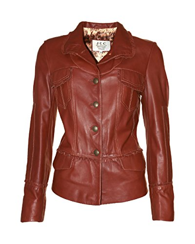 JCC Lederjacke, Damen Barbone Brown