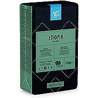 """Marca Amazon - Happy Belly Café molido """"ETIOPIA"""" (4 x 250g)"""
