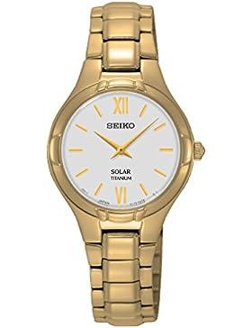Seiko Damen-Armbanduhr Solar Analog Quarz Titan SUP282P1