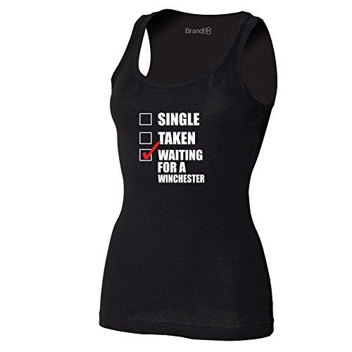 Brand88 - Waiting For A Winchester Damen T-Shirt Ohne Arm Schwarz