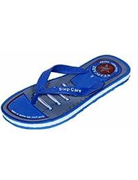 e74a6b7955681 Indistar Men Step Care Flip Flop House Slipper And Hawaai Chappal-Blue