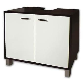 cabinet with 2 doors bathroom cupboard with wenge wood