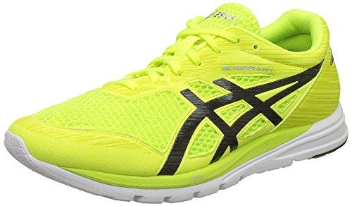 ASICS Men's Gel-Feather Glide 4 Safety Yellow/Black/White Running Shoes-8 UK/India (42.5 EU)(9 US)(T6K1N.0790)