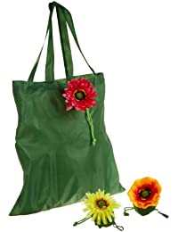 DII Fresh Flowers Reusable Grocery Bags, Set Of 3