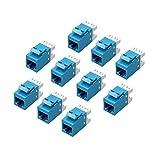 El MACTIS® RJ45 Keystone Jacks Jacks tienen un tamaño estándar cara keystone para el uso con 23 o 24 AWG cables sólidos en los paneles de conexión o placas de pared con espacios en blanco keystone estándar. Las terminaciones 110-tipo están codificado...