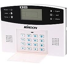 KKmoon Alarma Inalámbrica GSM SMS Antirrobo Sistema de Seguridad Llamada de Móvil 433MHZ con Sensor Detector de Movimiento PIR Sirena