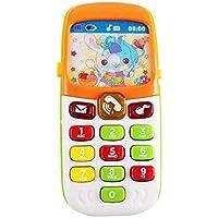 Gereton - Teléfono de juguete para niños y bebés, regalo educativo con iluminación de voz, funciona con pilas