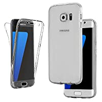 NWNK13Ž Samsung Galaxy S7 Ultra Thin 360- degree Protective Front And Back Complete Transparent Plain / Patterned TPU Gel Case.