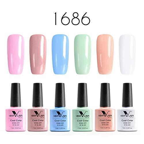 Venalisa 6 piezas lote profesional UV gel esmalte