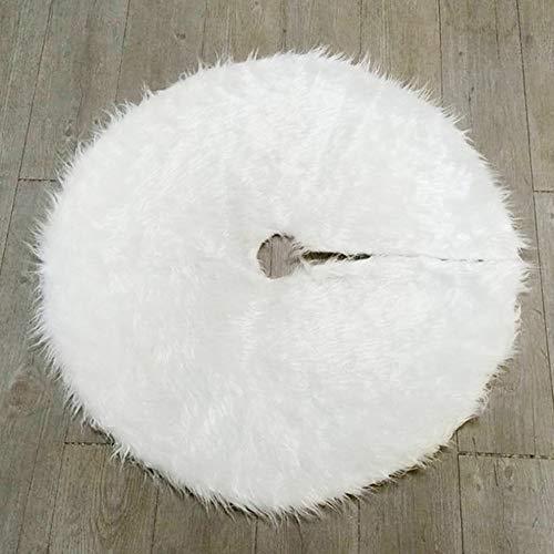 Verziert Faux Pelz (Mouchao Weihnachtsbaum-Plüsch-Rock-Schneewittchen-Faux-Pelz-Weihnachtsbaum-Rock verziert Weiß)