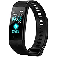 Y5 Colorful Screen braccialetto intelligente, IP67 impermeabile frequenza cardiaca pressione sanguigna fitness tracker pedometro calorie Counter Smart Band, Nero
