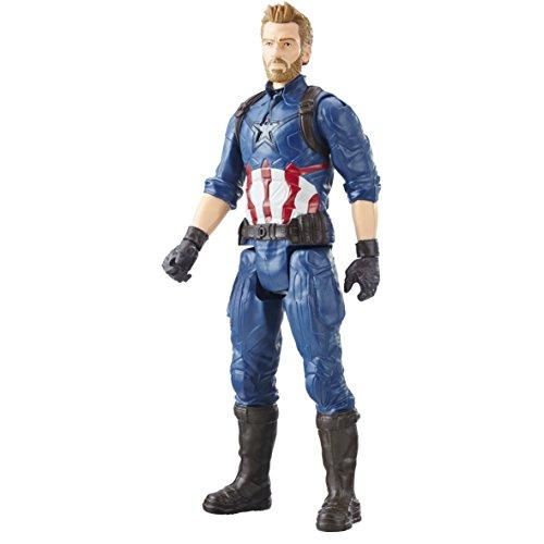 Marvel Avengers E1421Infinity War-Figur Titan Captain America 30cm (Avengers Captain America)