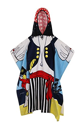 Badetücher für Kinder mit Kapuze, weiche Baumwolle, baumwolle, pirat, Einheitsgröße (Dora Prinzessin Kostüm)