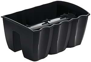 Terra - Cassetta portafiori Crown, grigia, 39 cm