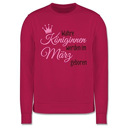 Geburtstag - Wahre Königinnen werden im März geboren - Herren Premium Pullover Fuchsia