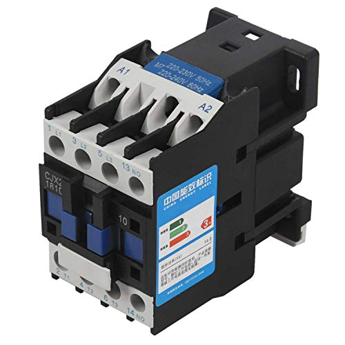 SODIAL Wechsel Strom Kontakt Geber Motor Anlass Relais (Lc1) Cjx2-1810 3P + No 220V Spule 18A 4Kw Blau & Schwarz 4 Kw 18