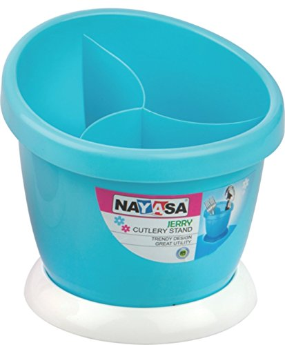 Nayasa Jerry Plastic Cutlery Stand, Blue
