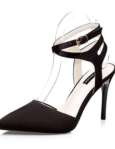 WSS 2016 Chaussures Femme-Mariage / Habillé / Soirée & Evénement-Noir / Rose / Rouge / Gris-Talon Aiguille-Talons / Bout Pointu-Talons-Similicuir red-us6 / eu36 / uk4 / cn36
