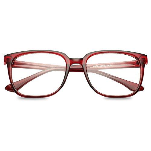 VEVESMUNDO Brille Ohne Sehstärke Nerdbrille Hornbrille Damen Herren Retro Vintage Klassisc rechteck...