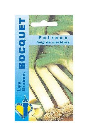 Les Graines Bocquet - Graines De Poireau Long De Mézières - Graines Potagères À Semer - Sachet De 4Grammes
