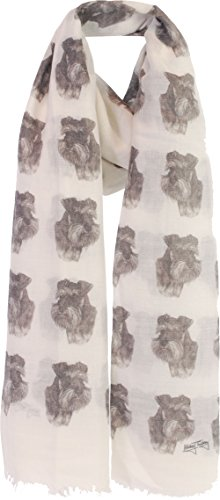 Schnauzer gifts for women Ladies Schnauzer dog print Scarf - Exclusive Mike Sibley Fashion Scarves Signature Collection - Perfect Gift for Any Dog Lover