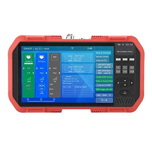 All-in-One-Netzwerk-HD-Tester, DT-A86 7-Zoll-TFT-Analognetzwerk-HD-Videotester TDR-Leitungsbruchstellen-Test Multimeter-Leistungsmesser mit WiFi/Spektrum/IPC/PD/HDMI-Eingang/ONVIF/POE-Ausgang(EU)