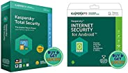 Kaspersky Total Security for Windows (1 Device 1 Year) + Kaspersky Internet Security for Android (1 Device 1 Y