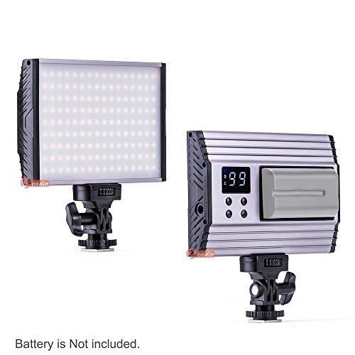 zeadio Bi-Color-Video-LED-Licht, super helle, dimmbare Kamera-Camcorder-Leuchte, digitales Bedienfeld für 3200-5600K 1500LM für alle digitalen SLR-Camcorder (Digitale Slr-kamera, 3200)