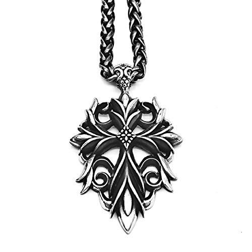 Y-XINOD Retro Kreuz Halskette, Herren Persönlichkeit Hip Hop Anhänger Trendy Schmuck Wilde Pullover Kette Zubehör Geburtstags Geschenke Für Bruder Freund,ChainLength:70cm