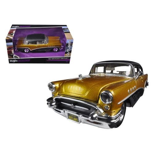 maisto-coche-de-juguete-design-exotics-outlaws-1955-buick-century-escala-1-24-color-negro-32507