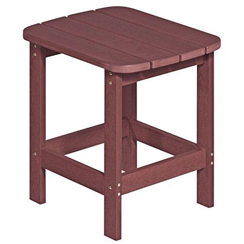 NEG Design Adirondack Tisch MARCY (rot-braun ab 02/2016) Westport-Table/Beistelltisch aus Polywood-Kunststoff (Holzoptik, wetterfest, UV- und farbbeständig)