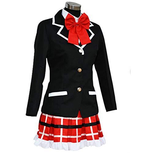 YKJ Anime Cosplay Kostüm Weibliche Sommeruniform Schuluniform Kostüm Halloween Komplettset,Full - Takanashi Rikka Kostüm