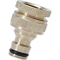 ANSIO giardino raccordo rubinetto tubo 3/4 pollici & 1/2 inch raccordo filettato in ottone