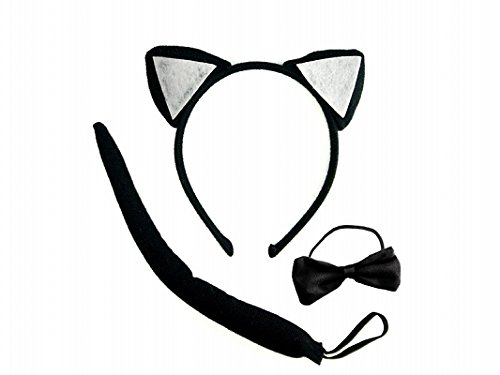 Maschera Travestimento Set Gatta Gattina Catwoman