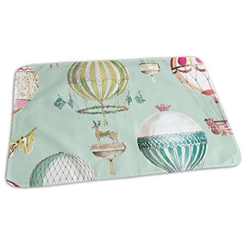 swerrtty Hot Air Balloon Diaper Changing Pad Breathable Flannel Changing Mats and Reusable -