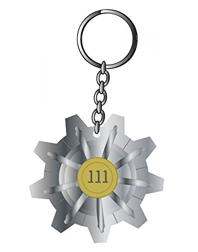 Preisvergleich Produktbild Fallout - Vault 111 - Schlüsselanhänger Keychain | Original Bethesda | Vaultech Merchandise | RPG